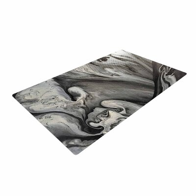 Abstract Anarchy Design Inner Chaos Abstract Black Area Rug