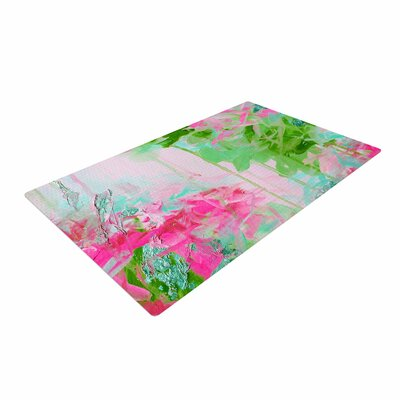 Ebi Emporium Whispered Song 2 Pink/Green/Teal Area Rug Rug Size: 4 x 6