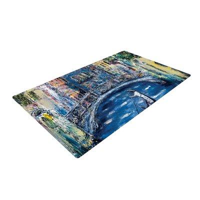 Josh Serafin Venice Travel Italy Blue/Green Area Rug Rug Size: 2 x 3