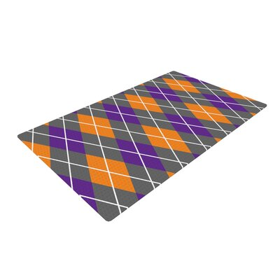 Argyle - Dusk Orange/Purple Area Rug