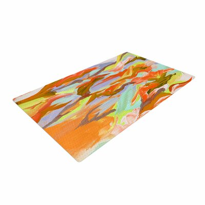 Ebi Emporium Still Up in the Air 5 Yellow/Orange Area Rug Rug Size: 4 x 6