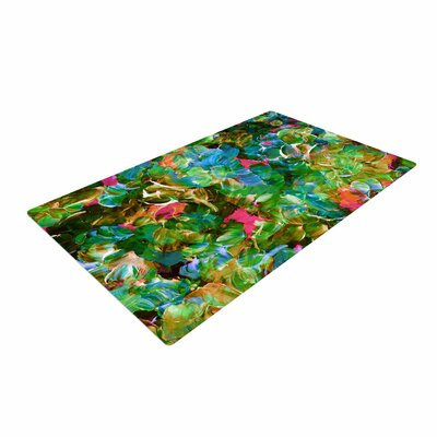 Ebi Emporium Bloom on! Tropical Green/Blue Area Rug