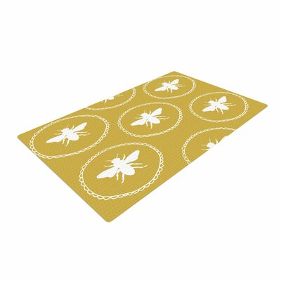 Jennifer Rizzo Busy As A Bee Maise White/Gold/Nature Area Rug