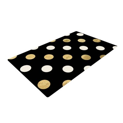Dots Black/Gold Area Rug