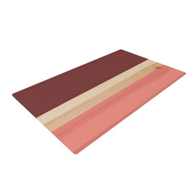 Spring Swatch - Marsala Strawberry Red/Pink Area Rug Rug Size: 2 x 3