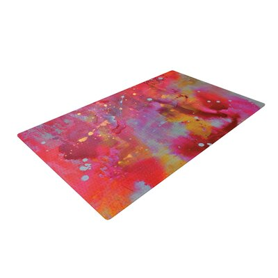 Kira Crees Falling Paradise Pink/Orange Area Rug Rug Size: 2' x 3'