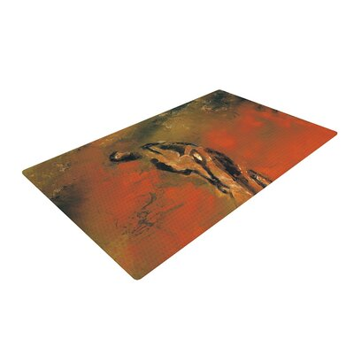 Josh Serafin Chip Golf Player Orange/Black Area Rug Rug Size: 2 x 3