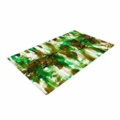 Ebi Emporium Noise 4 Green/Olive/White Area Rug Rug Size: 4 x 6