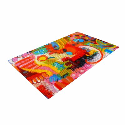 Jeff Ferst Flower Power Abstract Multicolor Area Rug