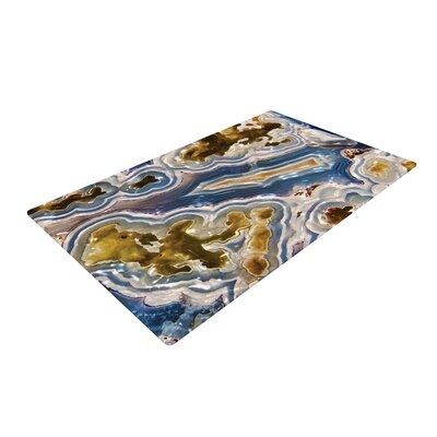 Agate Brown/Nature/Gold/Blue Area Rug
