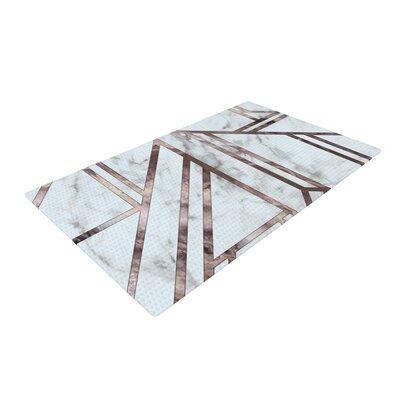 Dark Marble Mosaic Digital Geometric Gray Area Rug