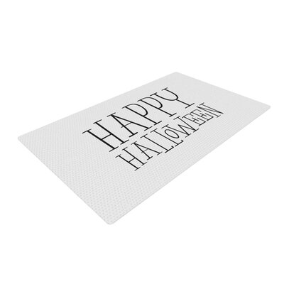 Happy Halloween White Area Rug