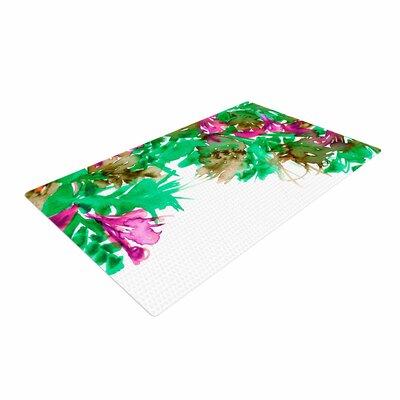 Ebi Emporium Floral Cascade 6 Pink/Green Area Rug Rug Size: 4 x 6
