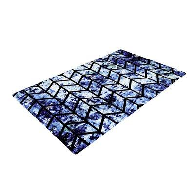 Ebi Emporium Chevron Wonderland II Blue/Black Area Rug Rug Size: 2 x 3