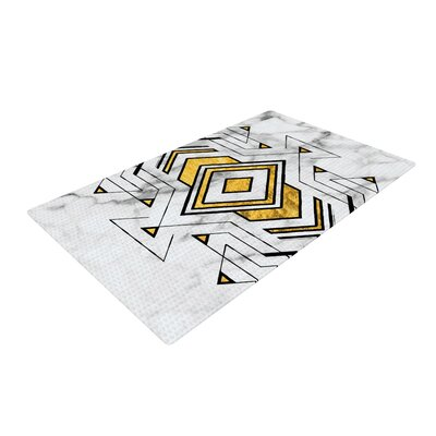 Geo Marble Graphic Tribal Gold Area Rug