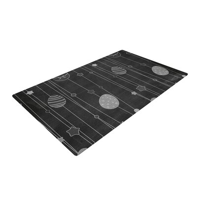 Chalk Eggs Black/Gray Area Rug