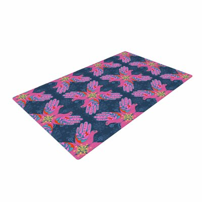 Jane Smith Hamsa Pattern Pink Area Rug Rug Size: 2 x 3