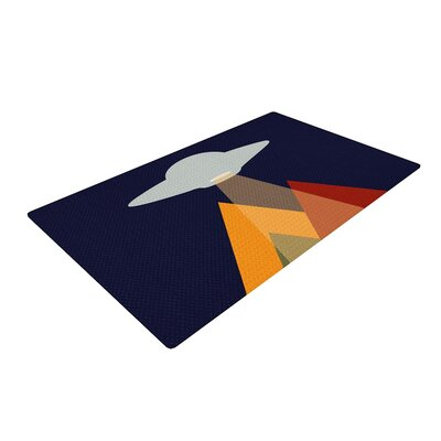 Abduct Me Geometric Fantasy Blue Area Rug