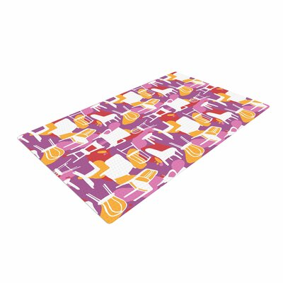 Luvprintz Chairs Purple/Red Area Rug
