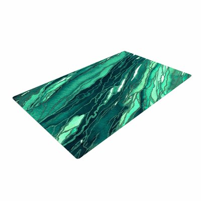 Ebi Emporium Agate Magic Jade Painting Teal/Green Area Rug