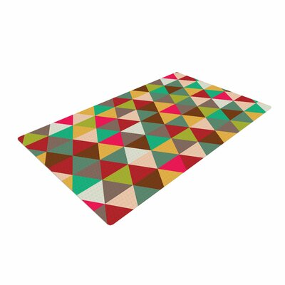 Autumn Triangle Spectrum Geometric Blue/Pink Area Rug Rug Size: 2 x 3