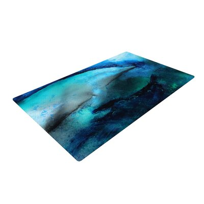 Josh Serafin Dolphin Blue/Teal Area Rug Rug Size: 2 x 3