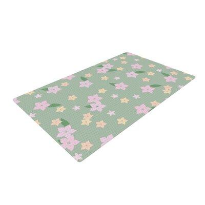 Spring Floral Green/Pink Area Rug