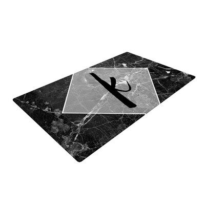 Monogram Black/Marble Area Rug