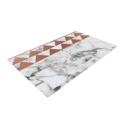 Metal Marble/White Area Rug