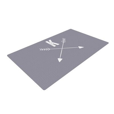 Arrow Monogram Gray Area Rug