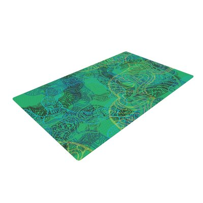 Patternmuse Mandala Abstract Green/Mint Area Rug