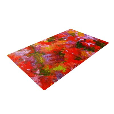 Jeff Ferst Summer Garden Flora Painting Red/Pink Area Rug Rug Size: 4 x 6