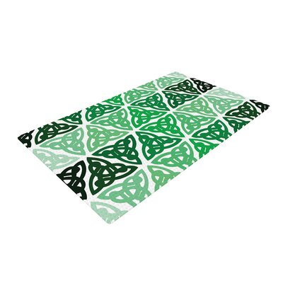 Celtic Knot Forest Green/Mint Area Rug