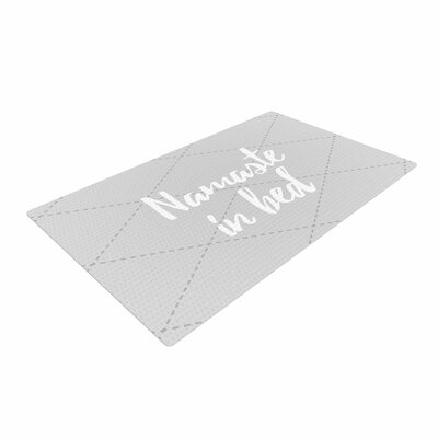 Namaste in Bed White/Gray Area Rug
