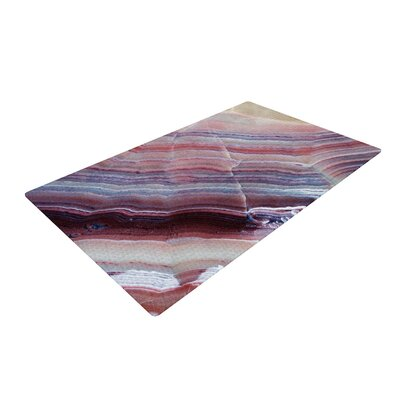Sunrise Agate Pink/Purple Area Rug Rug Size: 2 x 3