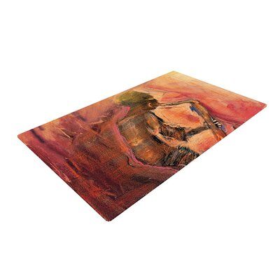 Josh Serafin Catch the Wind Orange/Red Area Rug Rug Size: 4 x 6