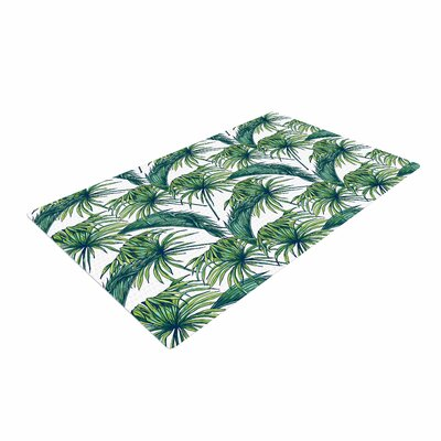 Palmtastic Green/Nature Area Rug Rug Size: 2 x 3