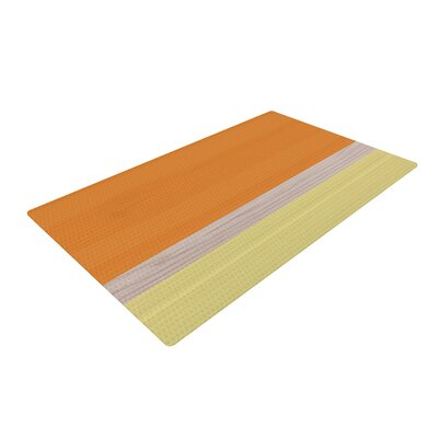 Spring Swatch - Tangerine Custard Orange/Yellow Area Rug Rug Size: 2 x 3