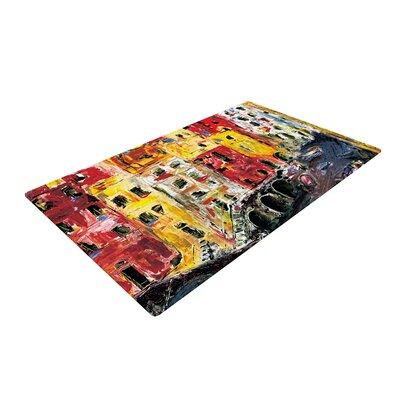 Josh Serafin Cinque Terre Red/Yellow Area Rug Rug Size: 2 x 3