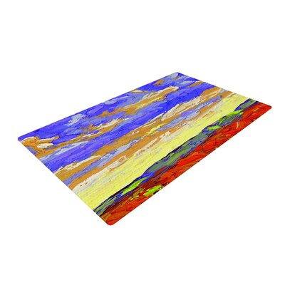 Jeff Ferst After the Storm Blue/Yellow Area Rug Rug Size: 2 x 3