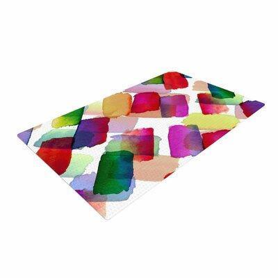 Ebi Emporuim Strokes of Genius 2 Purple/Yellow Area Rug Rug Size: 4 x 6