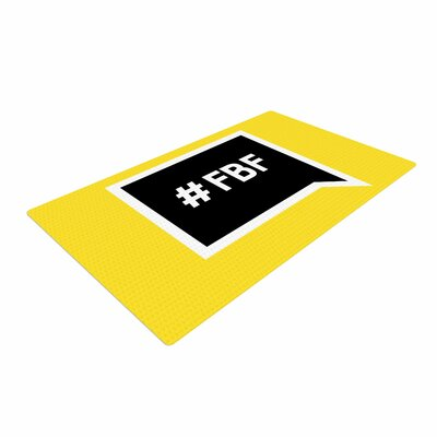 Flash Back Friday Black/Yellow Area Rug