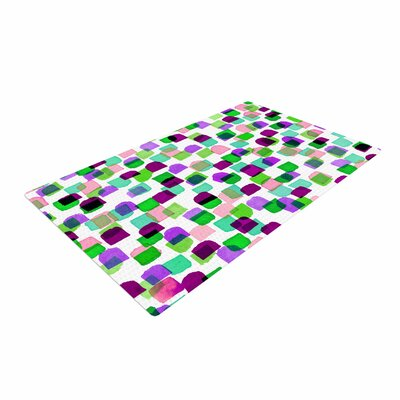 Ebi Emporium Retro Mod Dots 3 Green/Purple Area Rug Rug Size: 4 x 6