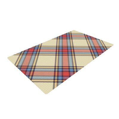 Sunday Brunch Plaid Tartan Red/Yellow Area Rug Rug Size: 4 x 6