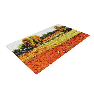Jeff Ferst Summer Breeze Foliage Orange Area Rug Rug Size: 2 x 3