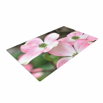 Jennifer Rizzo Spring Flowering Dogwood Pink/Green Area Rug