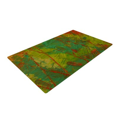 Jeff Ferst Evergreens Green/Red Area Rug Rug Size: 4 x 6
