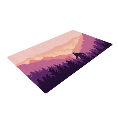 Big Foot Pink/Purple Area Rug