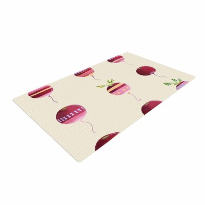 Judith Loske Happy Radishes Ped/Pink Area Rug