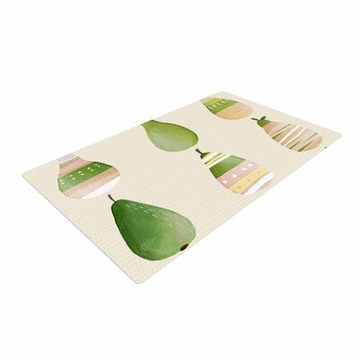 Judith Loske Happy Pears Green/Gold Area Rug